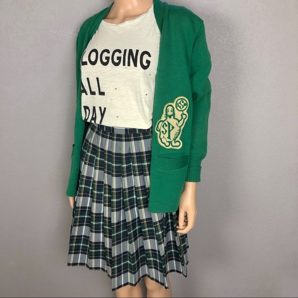 Vintage Skirts  80S Catholic School Girl Plaid Skirt -8929